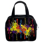 Crazy Multicolored Double Running Splashes Horizon Classic Handbags (2 Sides) Front