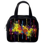 Crazy Multicolored Double Running Splashes Horizon Classic Handbags (2 Sides) Back