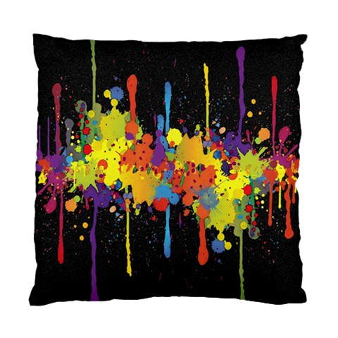 Crazy Multicolored Double Running Splashes Horizon Standard Cushion Case (One Side)