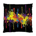 Crazy Multicolored Double Running Splashes Horizon Standard Cushion Case (Two Sides) Back