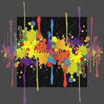 Crazy Multicolored Double Running Splashes Horizon Mini Canvas 4  x 4  4  x 4  x 0.875  Stretched Canvas