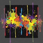 Crazy Multicolored Double Running Splashes Horizon Mini Canvas 6  x 6  6  x 6  x 0.875  Stretched Canvas