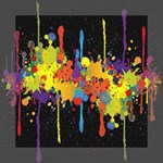 Crazy Multicolored Double Running Splashes Horizon Mini Canvas 8  x 8  8  x 8  x 0.875  Stretched Canvas