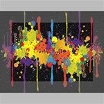 Crazy Multicolored Double Running Splashes Horizon Mini Canvas 7  x 5  7  x 5  x 0.875  Stretched Canvas