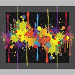 Crazy Multicolored Double Running Splashes Horizon Canvas 10  x 8  10  x 8  x 0.875  Stretched Canvas