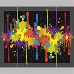 Crazy Multicolored Double Running Splashes Horizon Canvas 14  x 11  14  x 11  x 0.875  Stretched Canvas