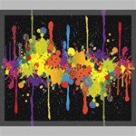 Crazy Multicolored Double Running Splashes Horizon Canvas 24  x 20  24  x 20  x 0.875  Stretched Canvas