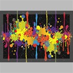 Crazy Multicolored Double Running Splashes Horizon Canvas 18  x 12  18  x 12  x 0.875  Stretched Canvas