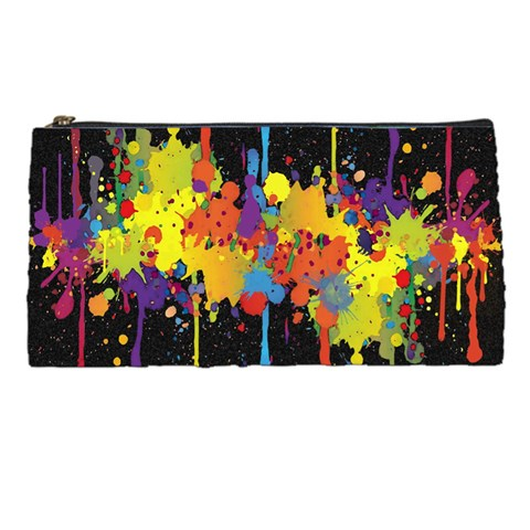 Crazy Multicolored Double Running Splashes Horizon Pencil Cases