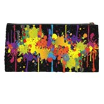 Crazy Multicolored Double Running Splashes Horizon Pencil Cases Back