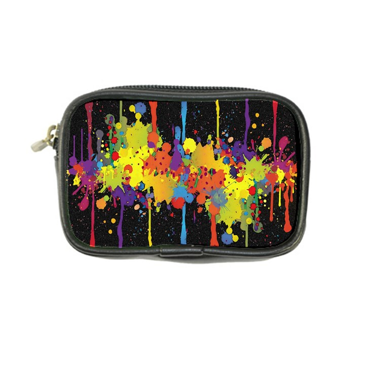 Crazy Multicolored Double Running Splashes Horizon Coin Purse