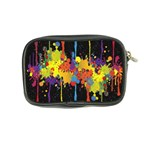 Crazy Multicolored Double Running Splashes Horizon Coin Purse Back
