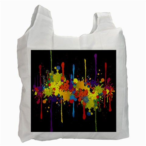 Crazy Multicolored Double Running Splashes Horizon Recycle Bag (One Side)