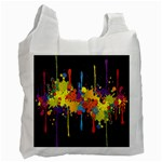 Crazy Multicolored Double Running Splashes Horizon Recycle Bag (One Side) Front