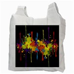 Crazy Multicolored Double Running Splashes Horizon Recycle Bag (Two Side)  Back