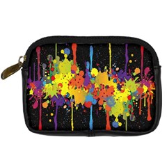 Crazy Multicolored Double Running Splashes Horizon Digital Camera Cases