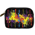 Crazy Multicolored Double Running Splashes Horizon Digital Camera Cases Front