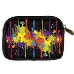 Crazy Multicolored Double Running Splashes Horizon Digital Camera Cases Back