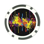 Crazy Multicolored Double Running Splashes Horizon Poker Chip Card Guards (10 pack)  Front