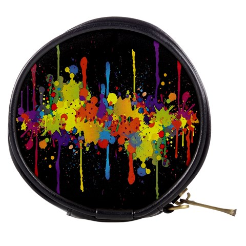 Crazy Multicolored Double Running Splashes Horizon Mini Makeup Bags