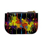 Crazy Multicolored Double Running Splashes Horizon Mini Coin Purses Back