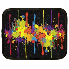Crazy Multicolored Double Running Splashes Horizon Netbook Case (xxl)