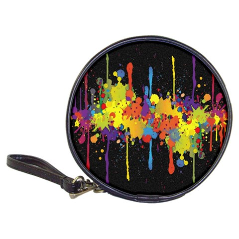 Crazy Multicolored Double Running Splashes Horizon Classic 20-CD Wallets