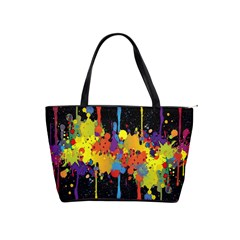Crazy Multicolored Double Running Splashes Horizon Shoulder Handbags