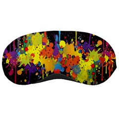Crazy Multicolored Double Running Splashes Horizon Sleeping Masks