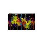 Crazy Multicolored Double Running Splashes Horizon Cosmetic Bag (Small)  Front