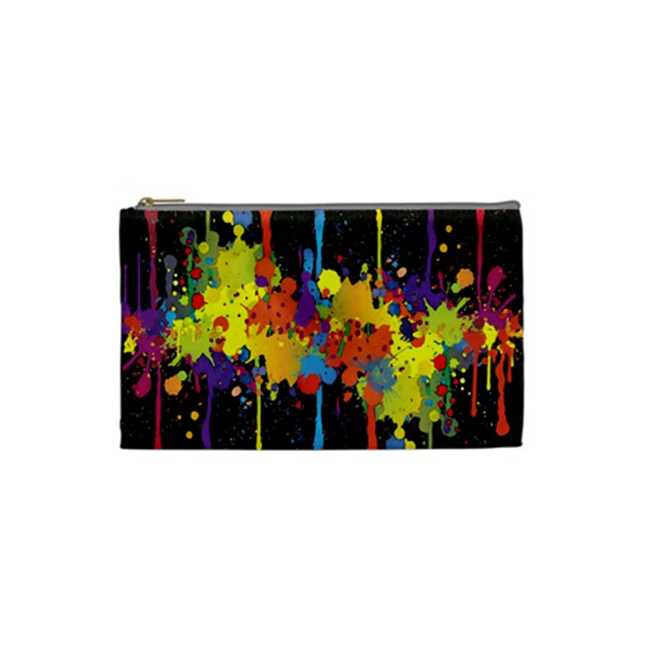 Crazy Multicolored Double Running Splashes Horizon Cosmetic Bag (Small)