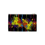Crazy Multicolored Double Running Splashes Horizon Cosmetic Bag (Small)  Back