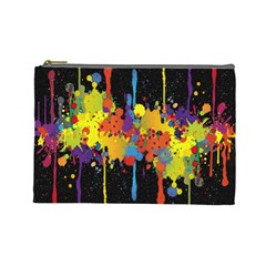 Crazy Multicolored Double Running Splashes Horizon Cosmetic Bag (Large)