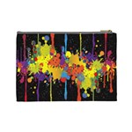 Crazy Multicolored Double Running Splashes Horizon Cosmetic Bag (Large)  Back
