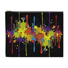 Crazy Multicolored Double Running Splashes Horizon Cosmetic Bag (XL)