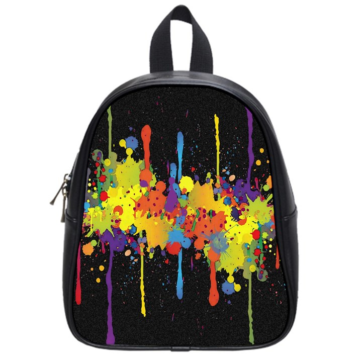 Crazy Multicolored Double Running Splashes Horizon School Bags (Small)