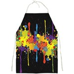 Crazy Multicolored Double Running Splashes Horizon Full Print Aprons Front