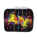 Crazy Multicolored Double Running Splashes Horizon Mini Toiletries Bags Front