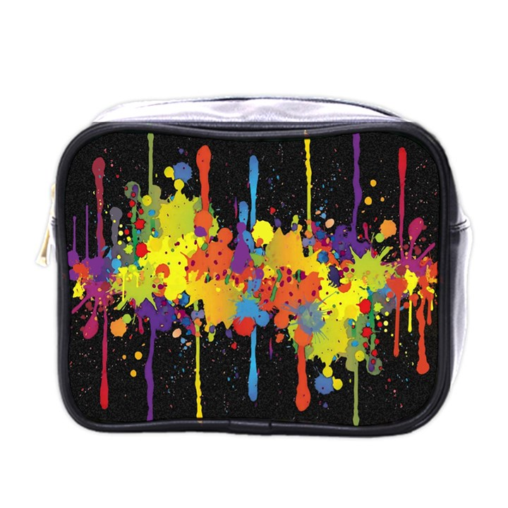 Crazy Multicolored Double Running Splashes Horizon Mini Toiletries Bags