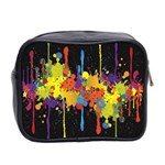Crazy Multicolored Double Running Splashes Horizon Mini Toiletries Bag 2-Side Back
