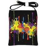Crazy Multicolored Double Running Splashes Horizon Shoulder Sling Bags Front