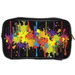 Crazy Multicolored Double Running Splashes Horizon Toiletries Bags Front