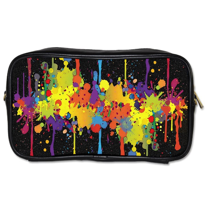Crazy Multicolored Double Running Splashes Horizon Toiletries Bags
