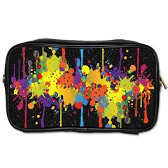Crazy Multicolored Double Running Splashes Horizon Toiletries Bags 2 Side