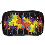 Crazy Multicolored Double Running Splashes Horizon Toiletries Bags 2-Side Back