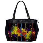Crazy Multicolored Double Running Splashes Horizon Office Handbags Front