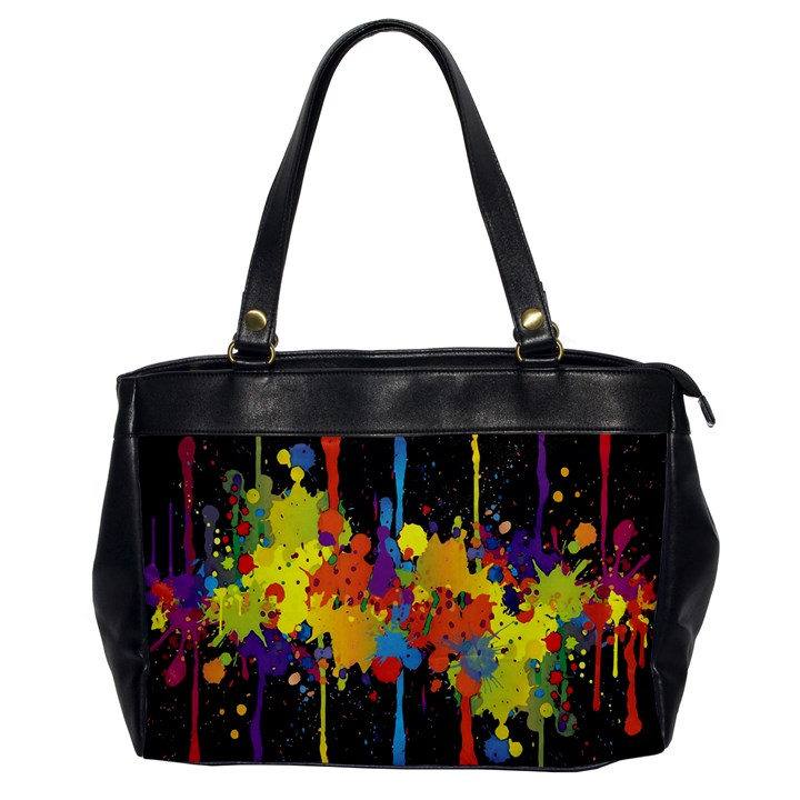 Crazy Multicolored Double Running Splashes Horizon Office Handbags