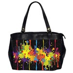 Crazy Multicolored Double Running Splashes Horizon Office Handbags (2 Sides)  Front