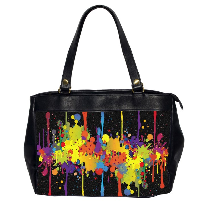 Crazy Multicolored Double Running Splashes Horizon Office Handbags (2 Sides)