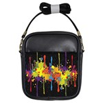 Crazy Multicolored Double Running Splashes Horizon Girls Sling Bags Front